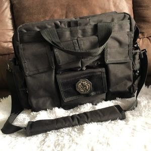 LA Gear Tactical Diaper Bag Tote Black
